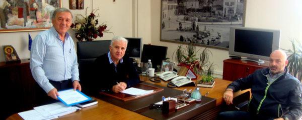 Εκτέλεση παράλληλων έργων αναδασμού Παλαίστρας - Μελίτης