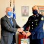 Εθιμοτυπική επίσκεψη νέου ασυνομικού Δ/ντή Παναγιώτη Γεωργιάδη
